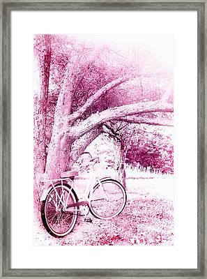 Pink Bicycle  Framed Print