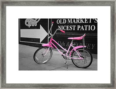 Pink Bike Framed Print by Nikolyn McDonald