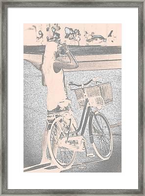 Pink Bike Framed Print by Sotiris Filippou