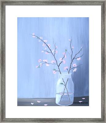 Pink Blossoms Framed Print by Glenda Barrett