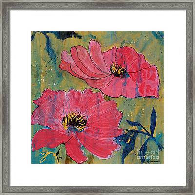 Framed Print featuring the painting Pink Blossoms by Robin Maria Pedrero