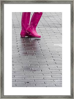 Pink Boots 1 Framed Print by Susan Cole Kelly Impressions