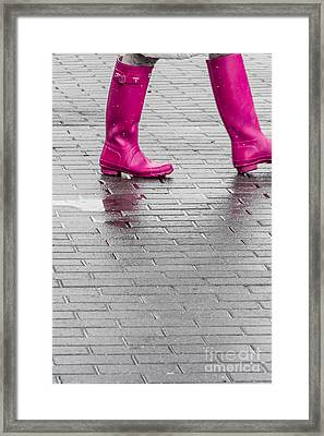Pink Boots 2 Framed Print by Susan Cole Kelly Impressions