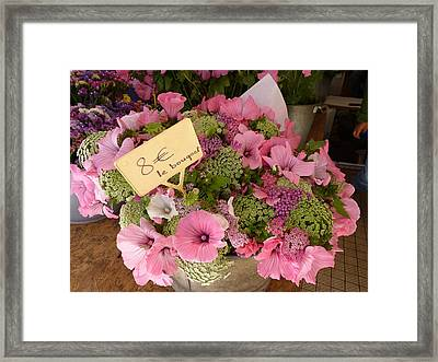 Pink Bouquet Framed Print by Carla Parris