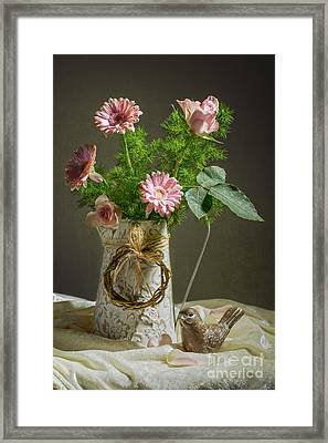 Pink Bouquet Framed Print by Amanda Elwell