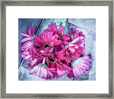 Pink Bouquet Framed Print by Susan Cole Kelly Impressions