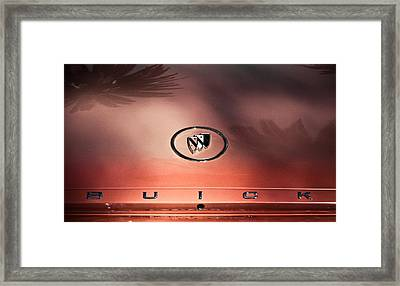 Pink Buick Framed Print by Merrick Imagery