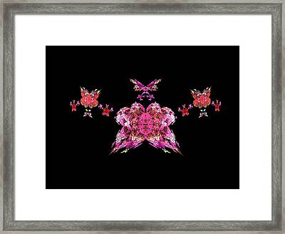 Pink Butterflies Framed Print by Bruce Nutting