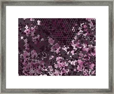 Pink Butterfly Framed Print by Kristina Sale