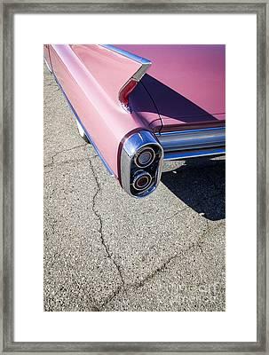 Pink Caddillac Framed Print by Holly Martin