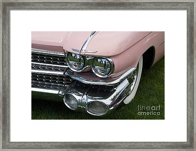 Framed Print featuring the photograph Pink Caddy by Gunter Nezhoda