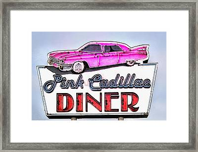 Pink Cadillac Diner Framed Print by Bill Cannon