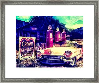 Pink Cadillac Framed Print by Mo T