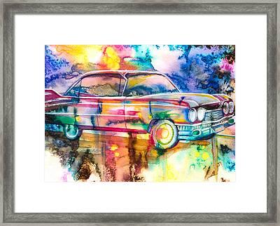Pink Cadillac Framed Print by Patricia Allingham Carlson