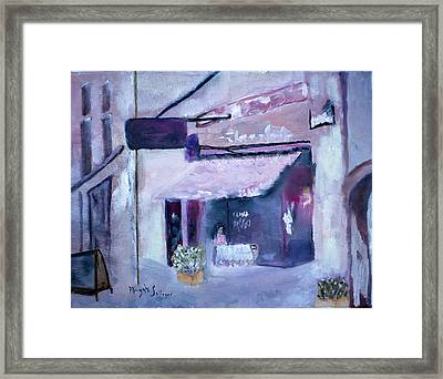 Pink Cafe II Framed Print