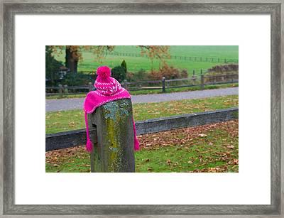 Pink Cap Framed Print by Hans Engbers