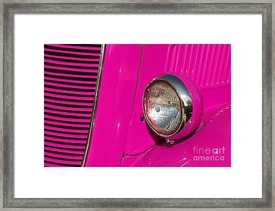 Pink Car Framed Print