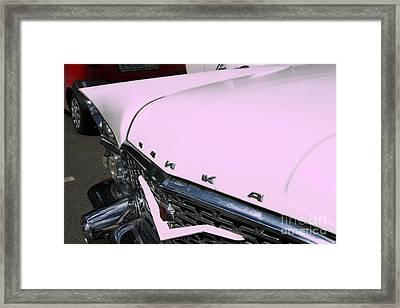 Pink Car Framed Print by Lali Kacharava