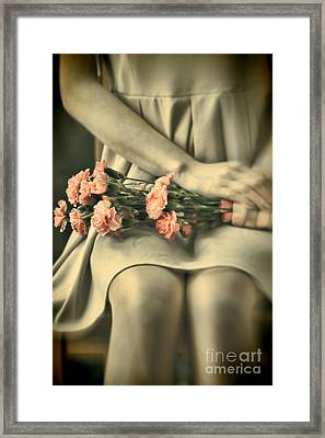 Framed Print featuring the photograph Pink Carnations by Craig B