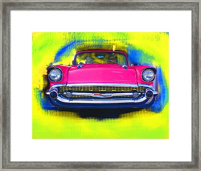 Pink Chevy Framed Print by Doug Walker