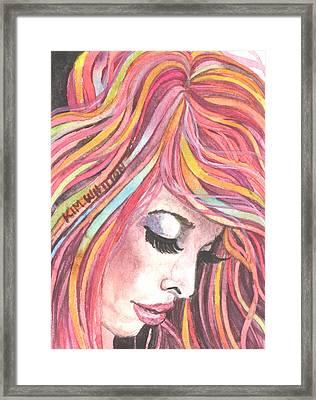 Pink Chiffon Framed Print