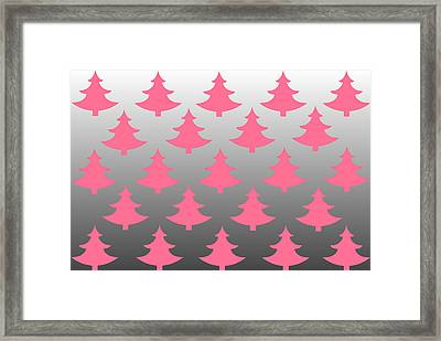 Pink Christmas Framed Print by Chastity Hoff