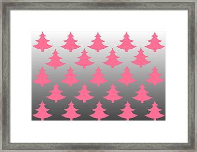 Pink Christmas Framed Print