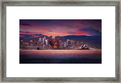Pink City Framed Print