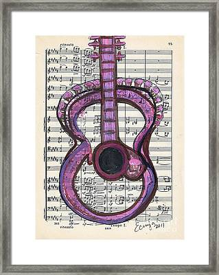 Pink Classical Funk #75 Framed Print by Ecinja Art Works