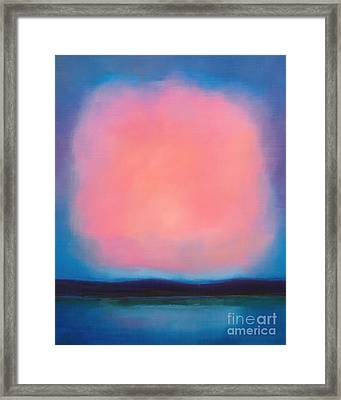 Pink Cloud Framed Print