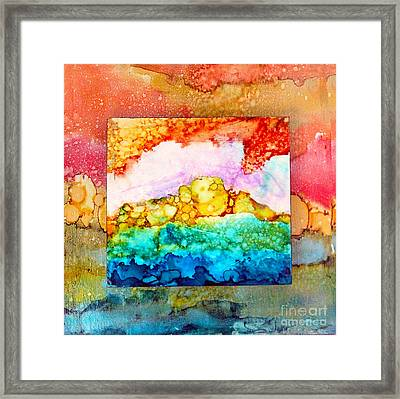 Pink Clouds Framed Print by Alene Sirott-Cope