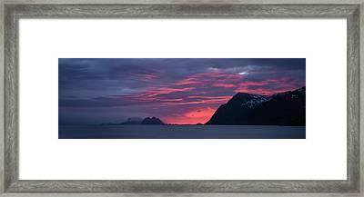 Pink Clouds At Sunset Over VÊr¯y Framed Print