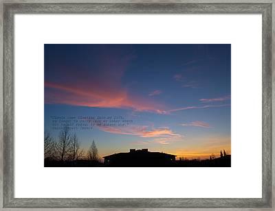 Pink Clouds Framed Print by Rima Biswas