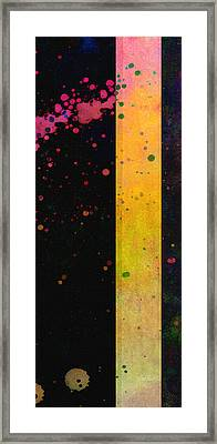 Pink  Color Splach Abstract Art  Framed Print by Ann Powell