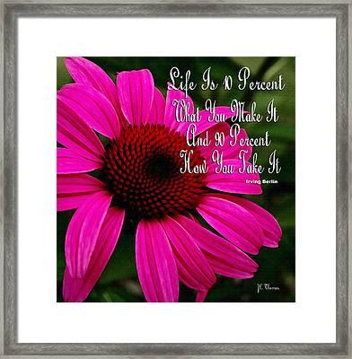 Pink Coneflower Framed Print