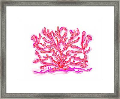 Framed Print featuring the digital art Pink Coral by Christine Fournier