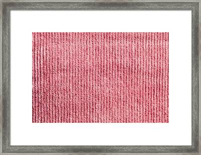Pink Corduroy Framed Print by Tom Gowanlock