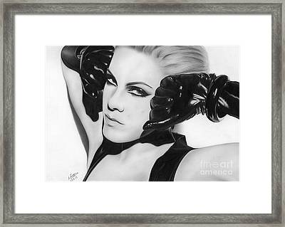 Pink Covergirl 001 Framed Print by Mandy Boss