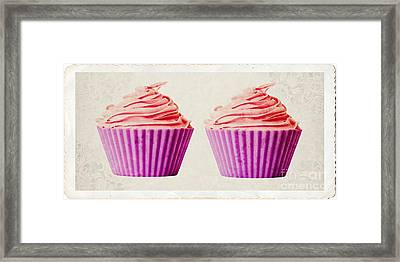 Pink Cupcakes Framed Print by Edward Fielding