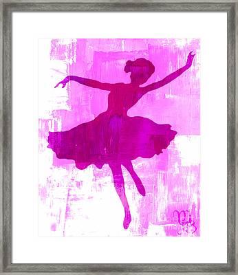 Pink Dancer Framed Print by Mindy Bench