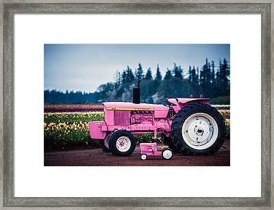 Framed Print featuring the photograph Pink Deeres by Brian Bonham