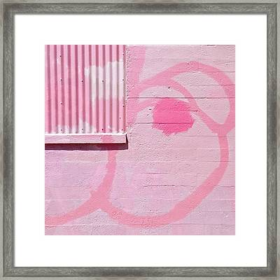 Pink Detail Framed Print