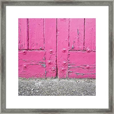 Pink Door Framed Print