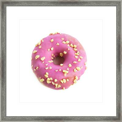 Pink Doughnut Framed Print by Science Photo Library