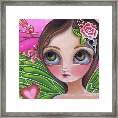 Pink Dragonflies Framed Print