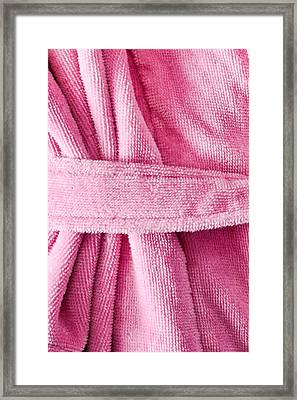 Pink Dressing Gown Framed Print by Tom Gowanlock