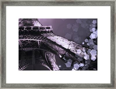 Pink Eiffel French Icon Framed Print by Evie Carrier