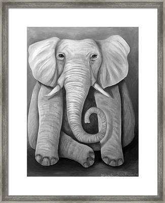 Pink Elephant Edit 4 Framed Print by Leah Saulnier The Painting Maniac