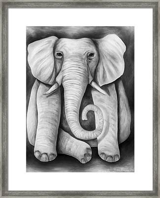 Pink Elephant Edit 5 Framed Print by Leah Saulnier The Painting Maniac