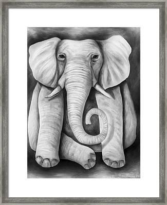Pink Elephant Edit 5 Framed Print